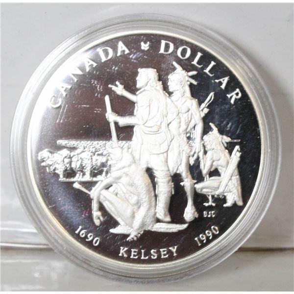 RCM 1990 PROOF SILVER DOLLAR- KELSEY