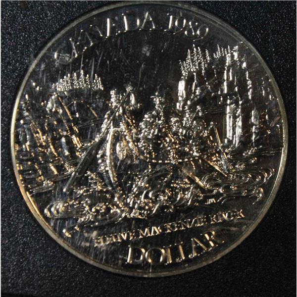 RCM 1989 PROOF SILVER DOLLAR- MACKENZIE RIVER