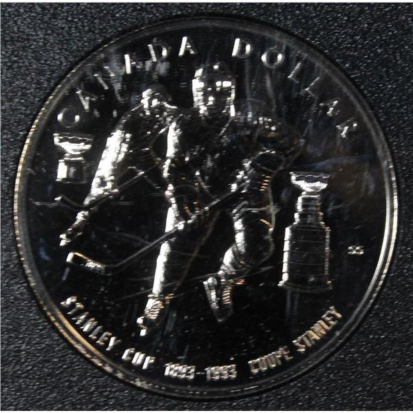 RCM 1993 B.U. PROOF SILVER DOLLAR- STANLEY CUP