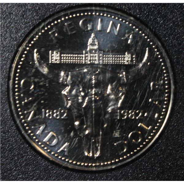 RCM 1982 PROOF SILVER DOLLAR- REGINA