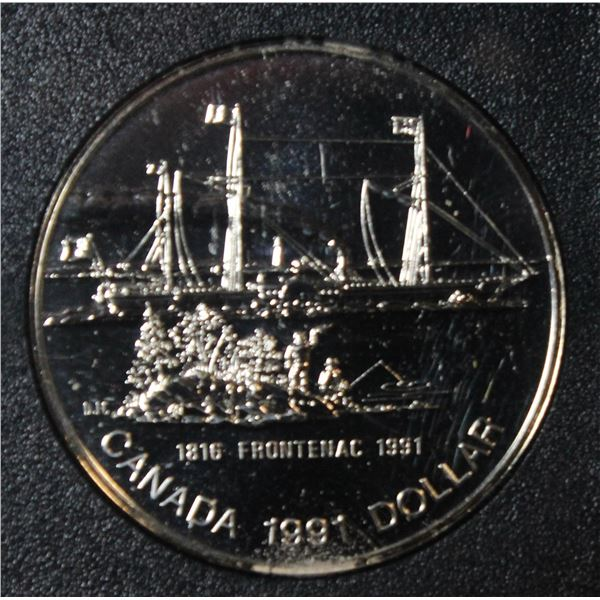 RCM 1991 PROOF SILVER DOLLAR- FRONTENAC