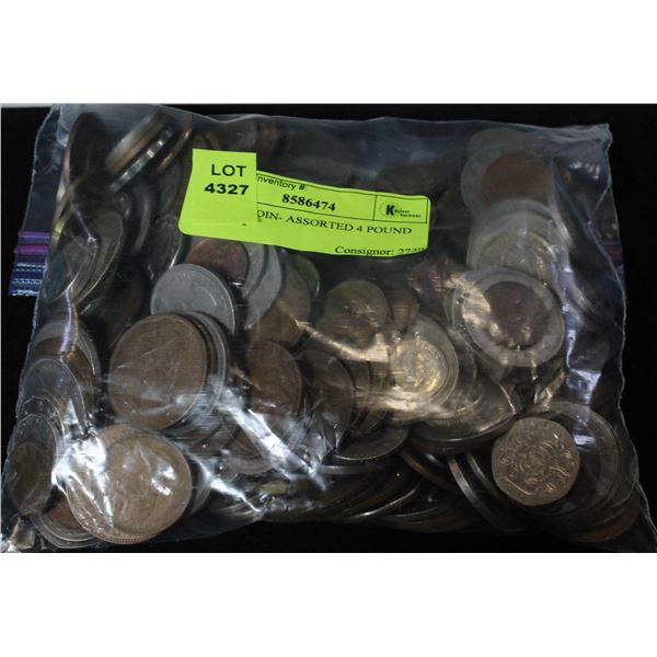 ESTATE COIN- ASSORTED 4 POUND BAG LOT