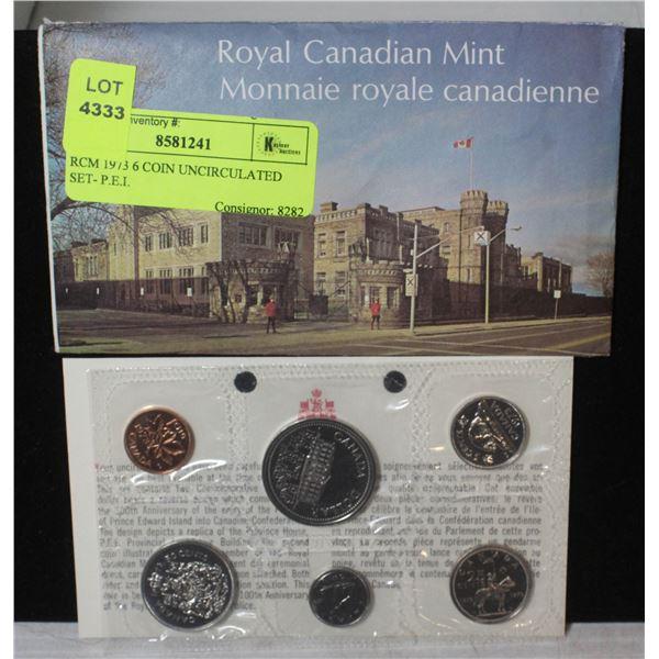 RCM 1973 6 COIN UNCIRCULATED SET- P.E.I.
