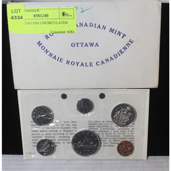 RCM 1972 6 COIN UNCIRCULATED SET