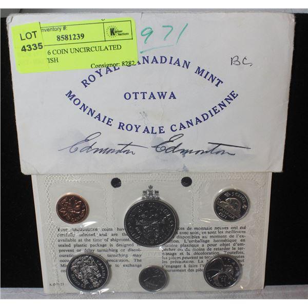 RCM 1971 6 COIN UNCIRCULATED SET- BRITISH