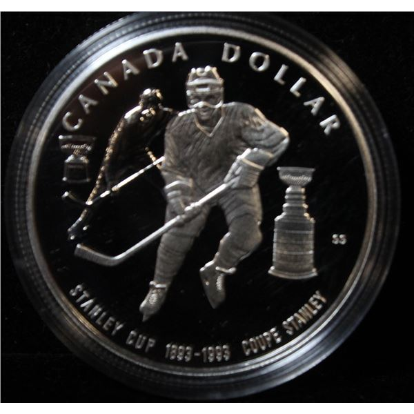 RCM 1993 PROOF SILVER DOLLAR- STANLEY CUP