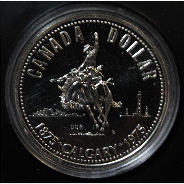 RCM 1975 PROOF SILVER DOLLAR- CALGARY