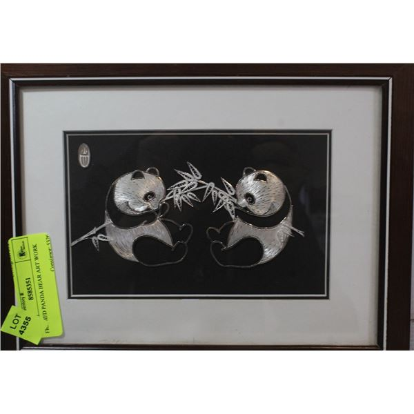 FRAMED PANDA BEAR ART WORK