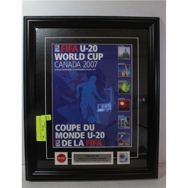 FRAMED OFFICIAL PROGRAM FIFA