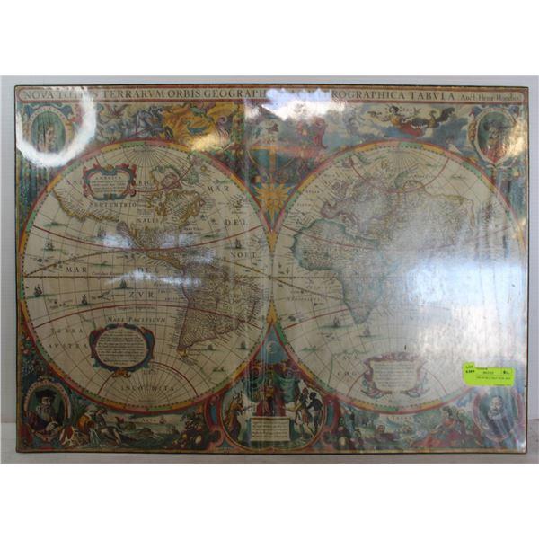 "28""X20"" 1499 WORLD MAP DESK MAP"