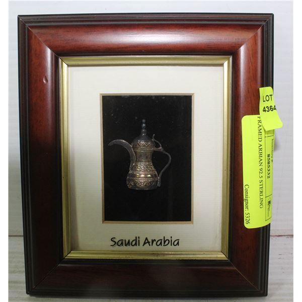 FRAMED ARABIAN 92.5 STERLING