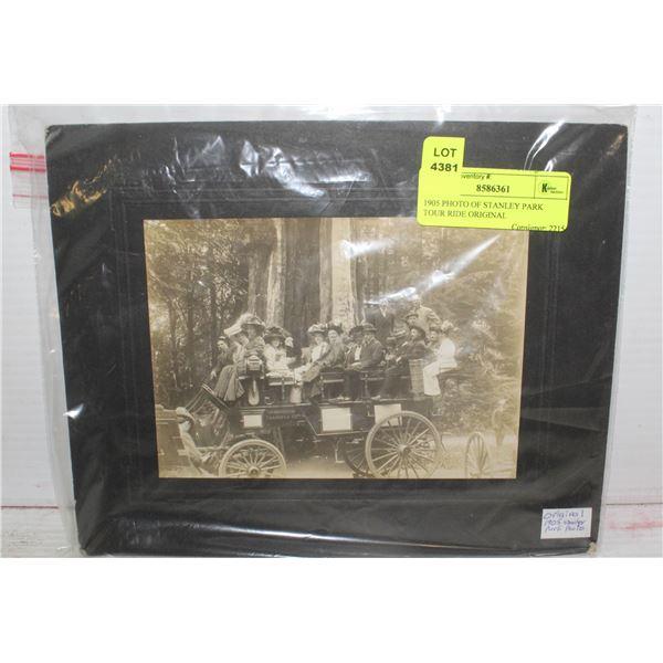 1905 PHOTO OF STANLEY PARK TOUR RIDE ORIGINAL