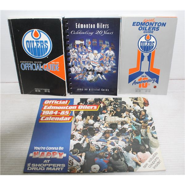 COLLECTION OF OILERS MEDIA GUIDES & CALENDAR