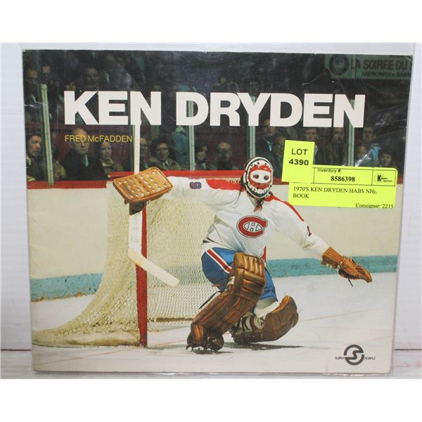 1970'S KEN DRYDEN HABS NHL BOOK