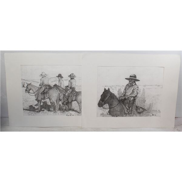 2 X RAY WESTERN ART LIMITED TO 100 MADE