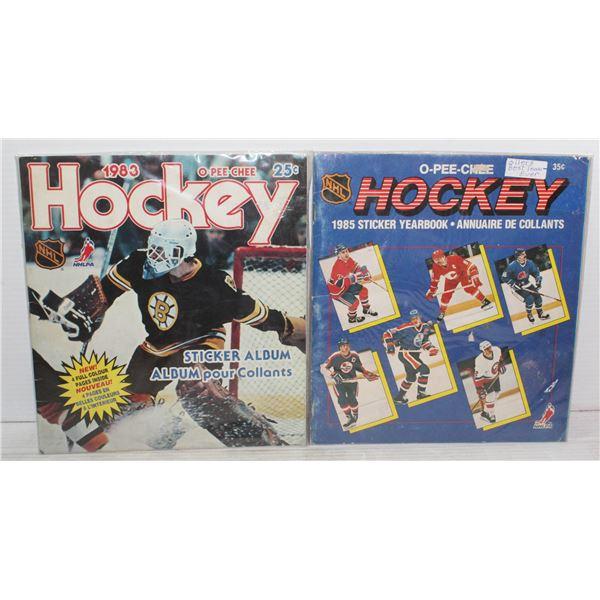 1983/1985 NHL COMPLETE STICKER CARD SETS