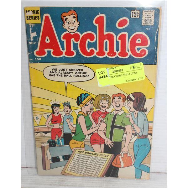 1960S ARCHIE COMIC 150 12 CENT