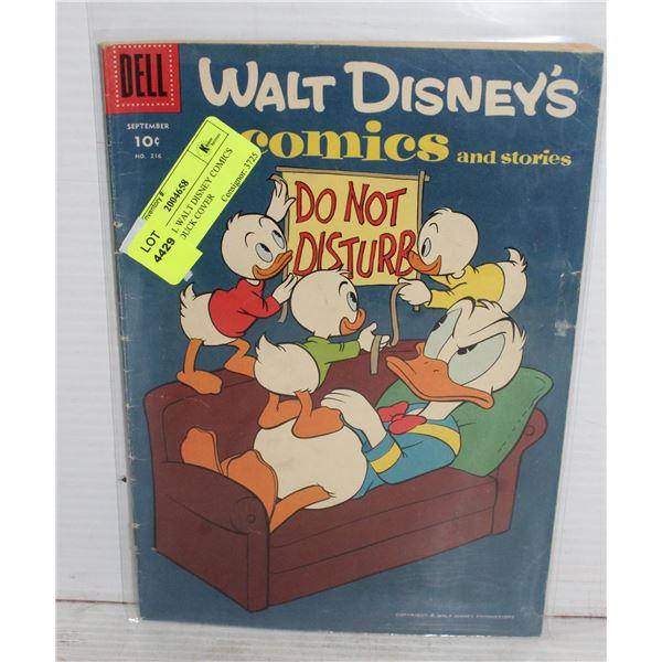 1950S DELL WALT DISNEY COMICS DONALD DUCK COVER