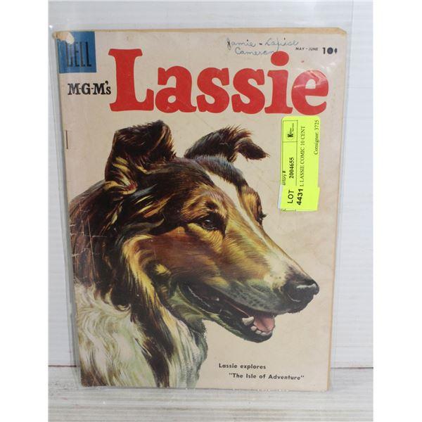 1950S DELL LASSIE COMIC 10 CENT