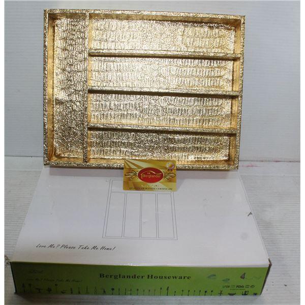 NEW FLATWARE ORGANIZER GOLD COLOURED