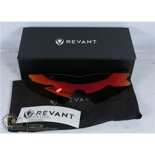 REVANT REPLACEMENT FIRE RED POLARIZED LENSES.