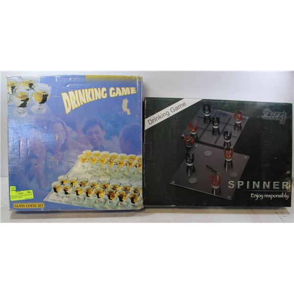 2 DRINKING GAMES-CLASSIC CHESS AND 2 IN 1 SPINNER