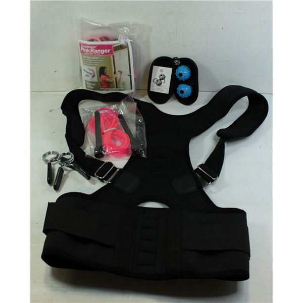 NEW EXERCISE LOT WITH WEIGHT LIFTING BELT
