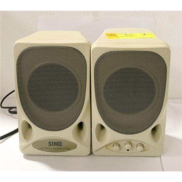 2 COMPUTER SPEAKERS