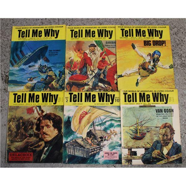 "VINTAGE (6) 1969 ""TELL ME WHY"""