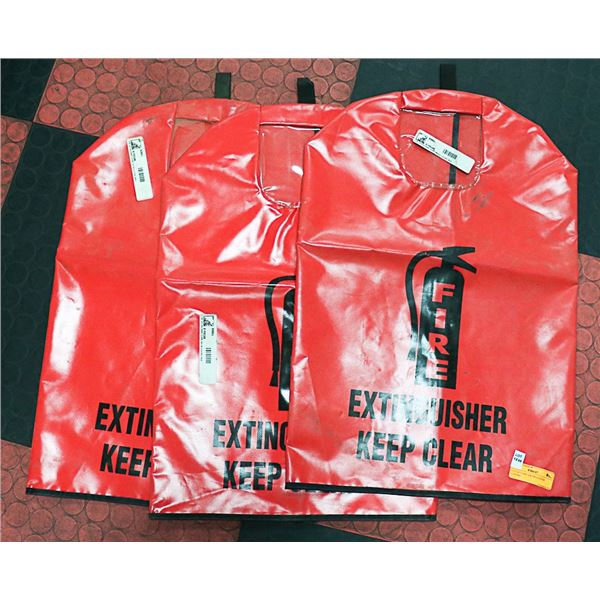 LOT OF 3 FIRE EXTINGUISHER COVERS