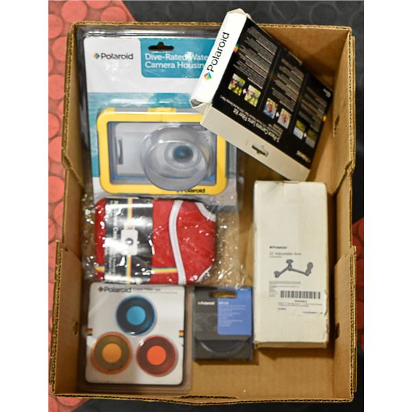 LOT OF NEW POLAROID ACCESSORIES - LENS FILTERS,