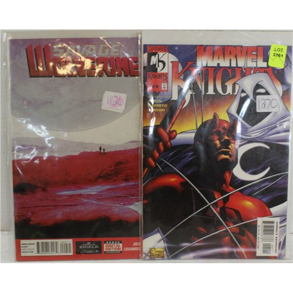SAVAGE WOLVERINE & MARVEL KNIGHTS COMIC BOOKS