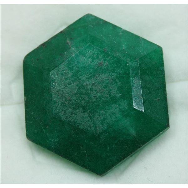 #75-GREEN JADE GEMSTONE 32.65ct