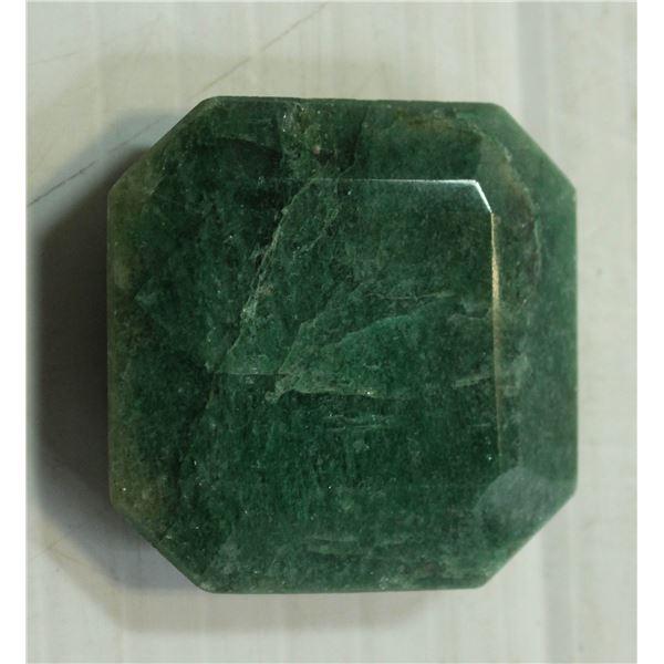 #50-GREEN EMERALD GEMSTONE 86.5ct