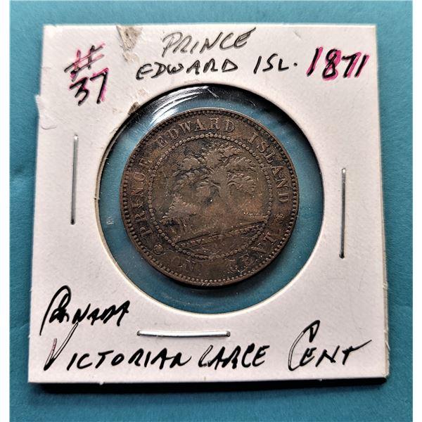 19) 1871 PRINCE EDWARD ISLAND PENNY