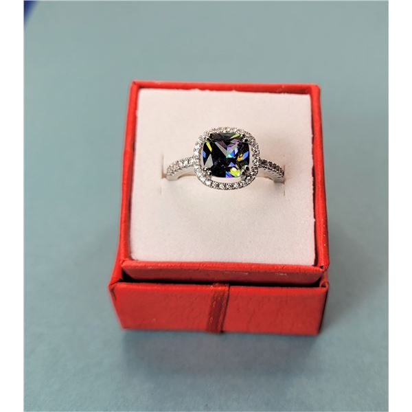 2) LAB-CREATED MYSTIC TOPAZ SIZE 8 RING