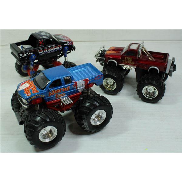 3 4x4 MODEL TRUCKS