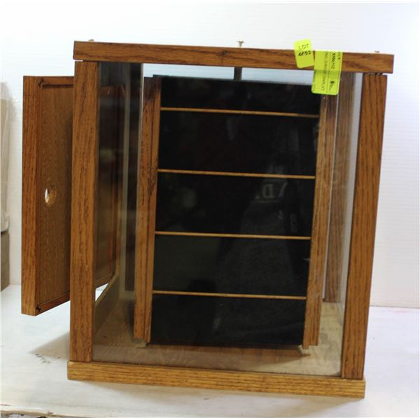 1960'S ROTATING JEWELRY DISPLAY CASE