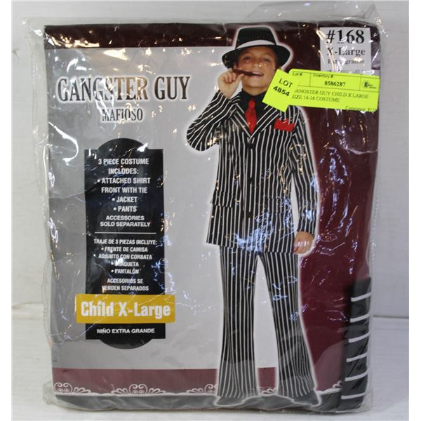 GANGSTER GUY CHILD X LARGE SIZE 14-16 COSTUME
