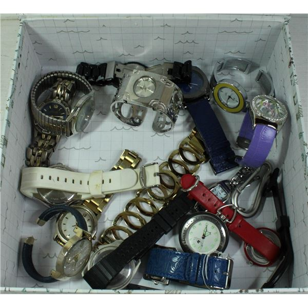 BOX OF WATCHES ALL TOGETHER