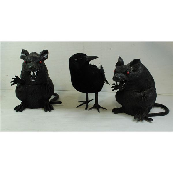 HALLOWEEN RATS & CROW