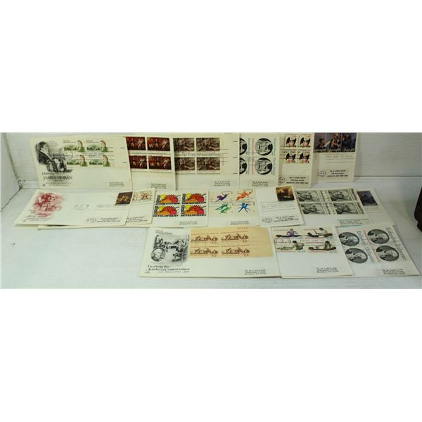 LOT OF 16 FIRST DAY ISSUE / COVER STAMPS