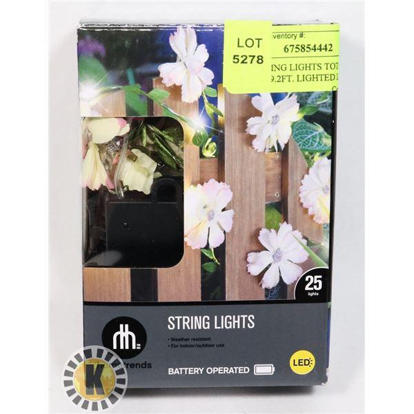 NEW STRING LIGHTS TOTAL LENGTH 9.2FT. LIGHTED LENG