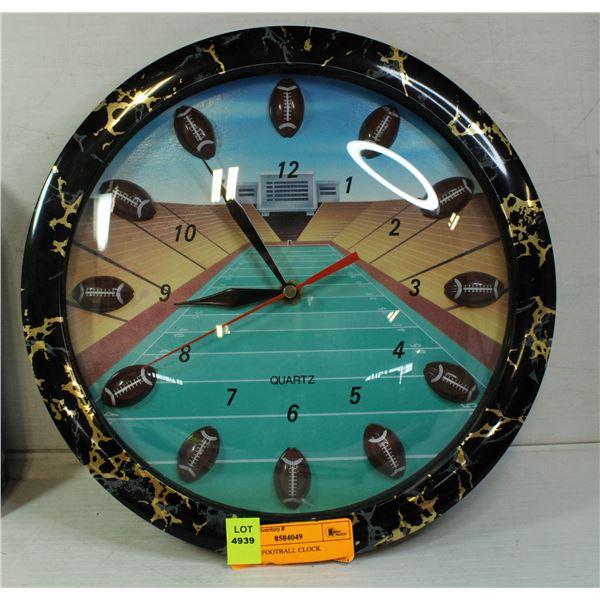 QUARTZ FOOTBALL CLOCK