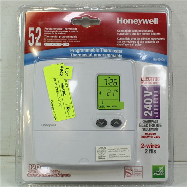 SEALED HONEYWELL 5.2 DAY