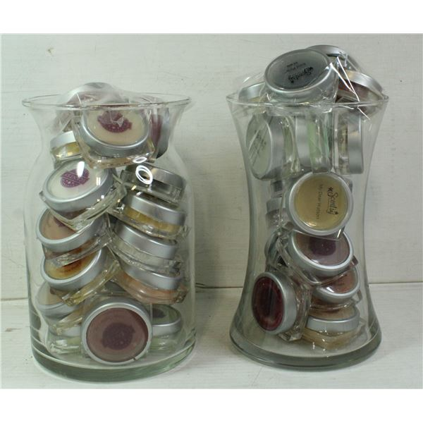 SET OF 2 LARGE GLASS CONTAINERS