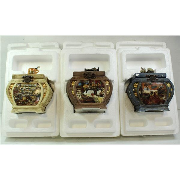 3 CAT THEMED MUSIC BOXES #ED COLTS