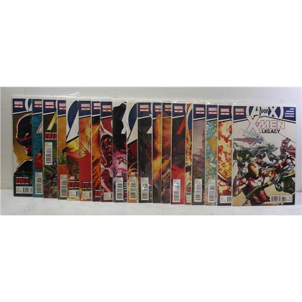 21 COMICS ALL AVENGERS VS X-MEN. MARVEL.