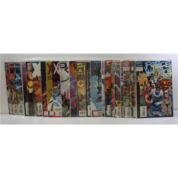 30 COMICS. ALL X-MEN VARIETIES. MARVEL.