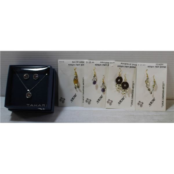 """NEW """"TAHARI"""" NECKLACE AND EARRING"""